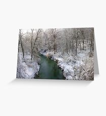Winter Creek Greeting Card
