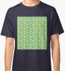 Grass Green Vintage Wallpaper Style Flower Patterns Classic T-Shirt