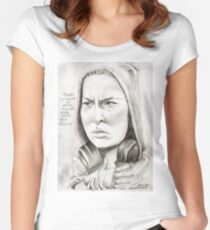 'Ronda' gourmet caricature by Sheik Women's Fitted Scoop T-Shirt