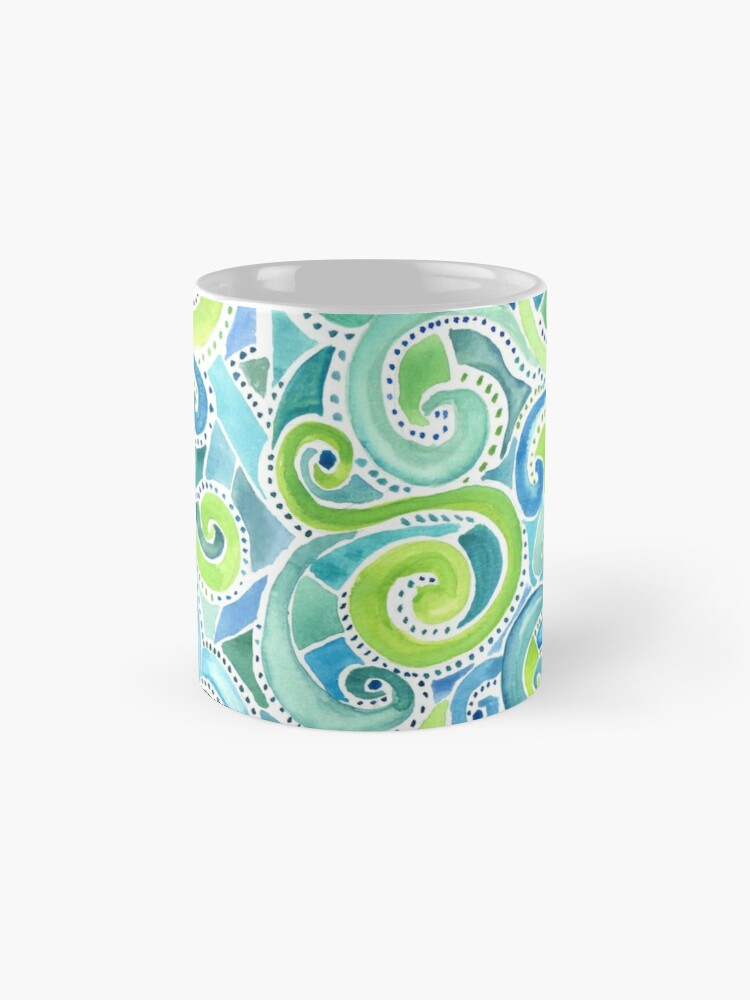 Alternate view of Swirly Spiral Watercolor Mug