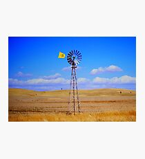 Land, sky and wind Photographic Print
