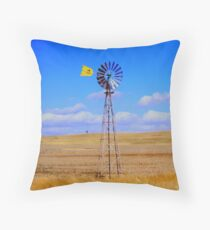 Land, sky and wind Throw Pillow