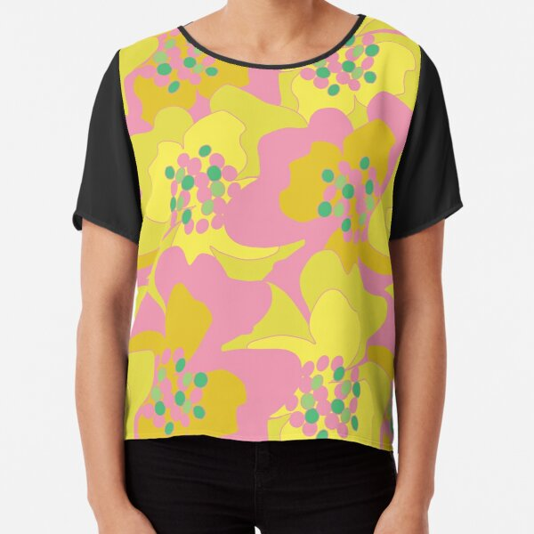 Lovers Passion Flowers 2 Chiffon Top