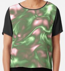 Dark Sea Green Liquid Chiffon Top