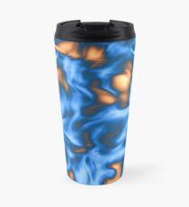 Light Sky Blue Liquid Travel Mug