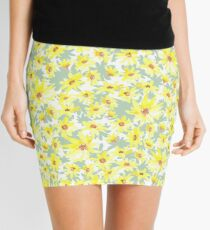 Yellow Prairie flowers Mini Skirt
