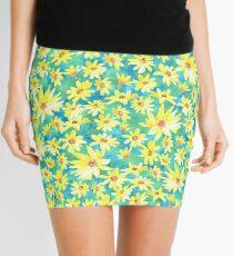 Yellow Prairie flowers dancing  Mini Skirt