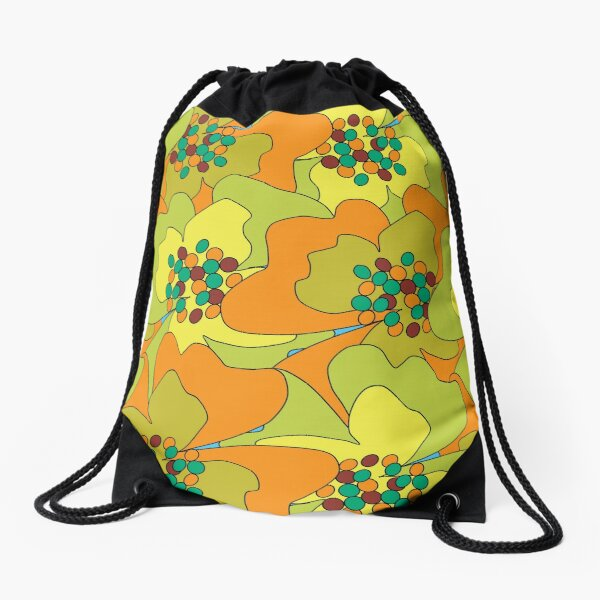 Late Spring Passion Flowers 1 Drawstring Bag