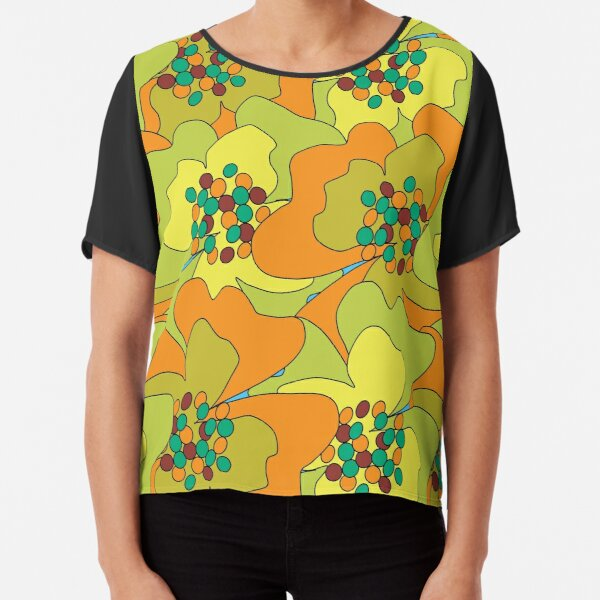 Late Spring Passion Flowers 1 Chiffon Top