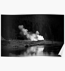 Hot Springs in Yellowstone Poster