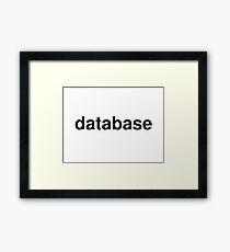 database Framed Print