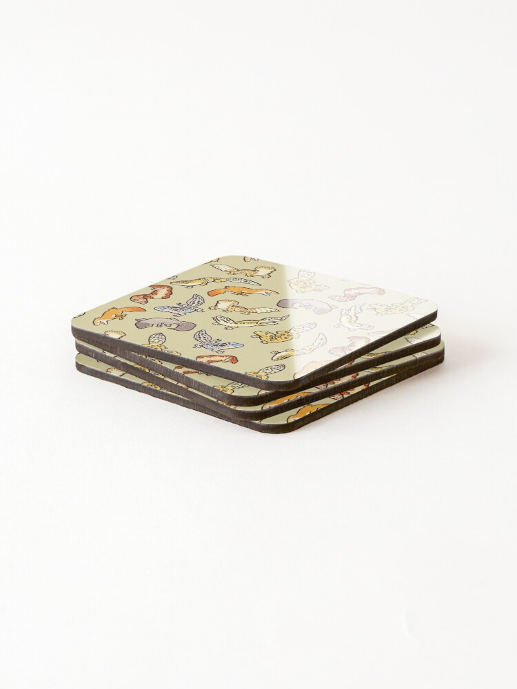 Alternate view of chub gecko babies Coasters (Set of 4)