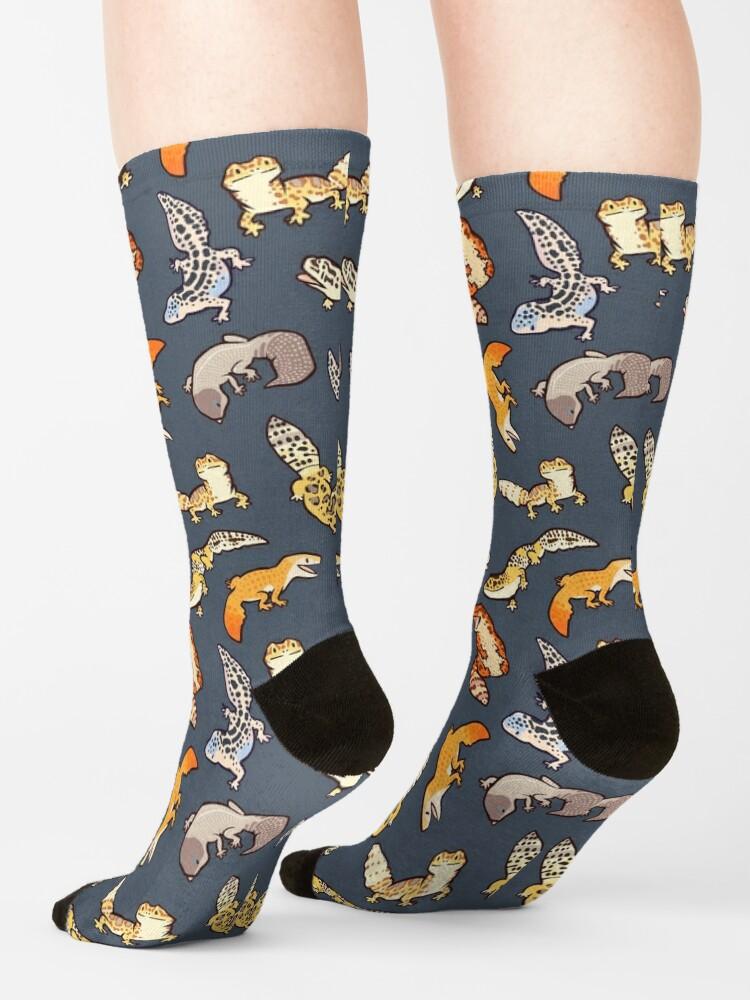 Alternate view of chub geckos in dark grey Socks