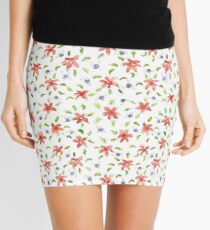 Water color abstract floral  Mini Skirt
