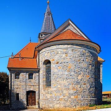 The village church of Eggendorf im Traunkreis by patrickjobst