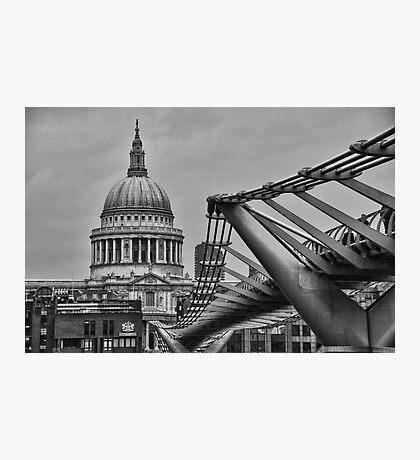 St Paul's Cathedral and Millennium Bridge Photographic Print