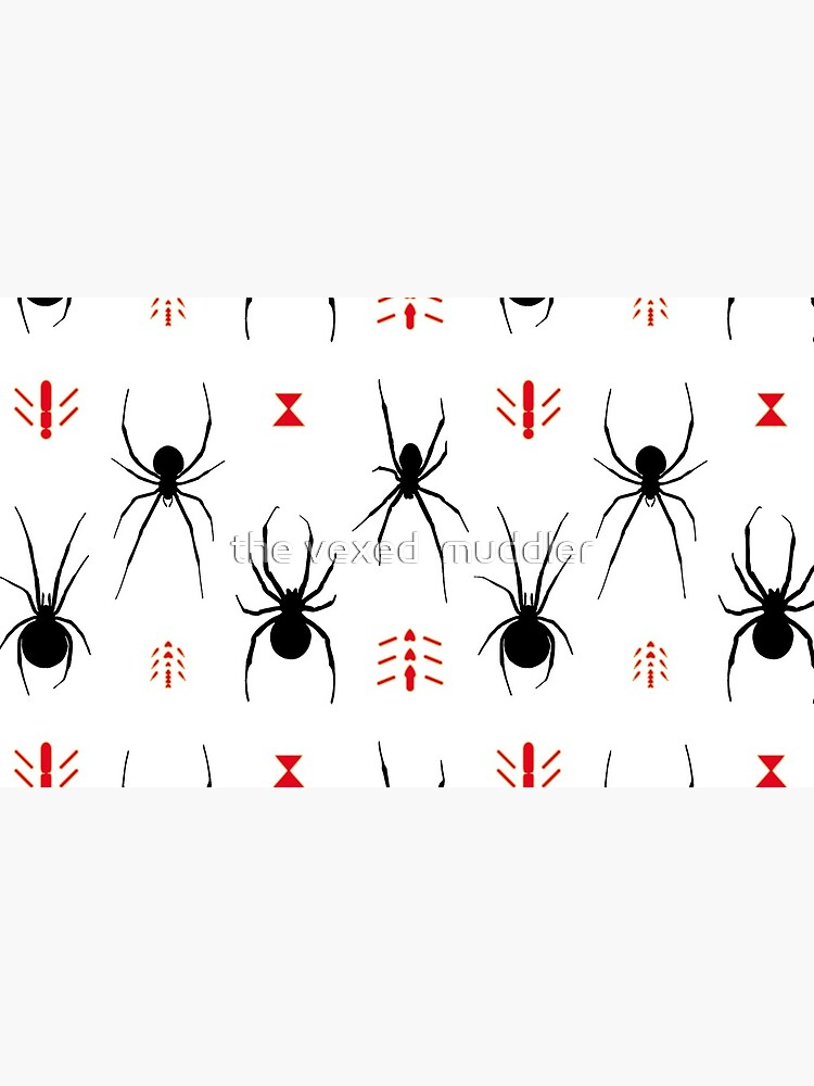 Latrodectus Black Widow spider pattern by thevexedmuddler