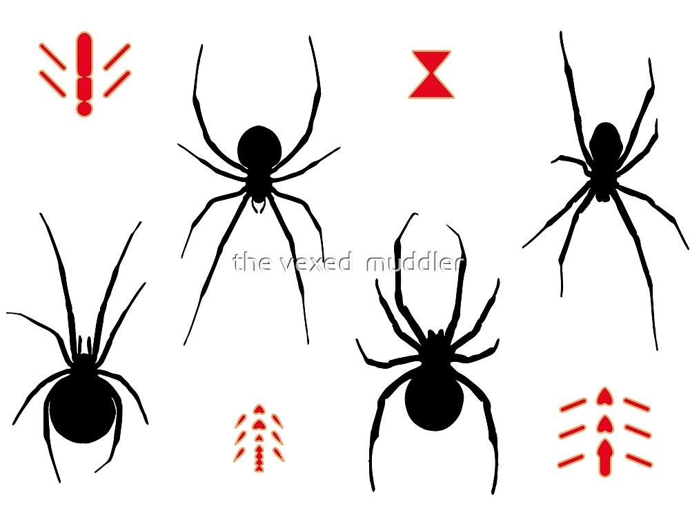 Latrodectus Black Widow spider pattern by the vexed  muddler