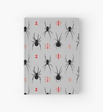 Latrodectus Black Widow spider pattern Hardcover Journal