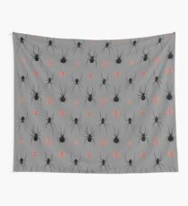 Latrodectus Black Widow spider pattern Wall Tapestry