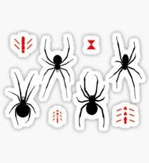 Latrodectus Black Widow spider pattern Glossy Sticker