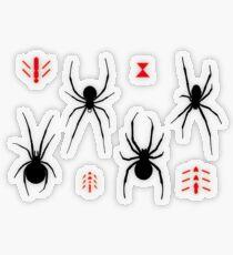 Latrodectus Black Widow spider pattern Transparent Sticker