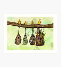 Oriole Nests - No place like home (Rainbow) Art Print