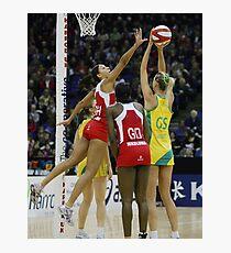 Netball. England v Australia 3 Photographic Print