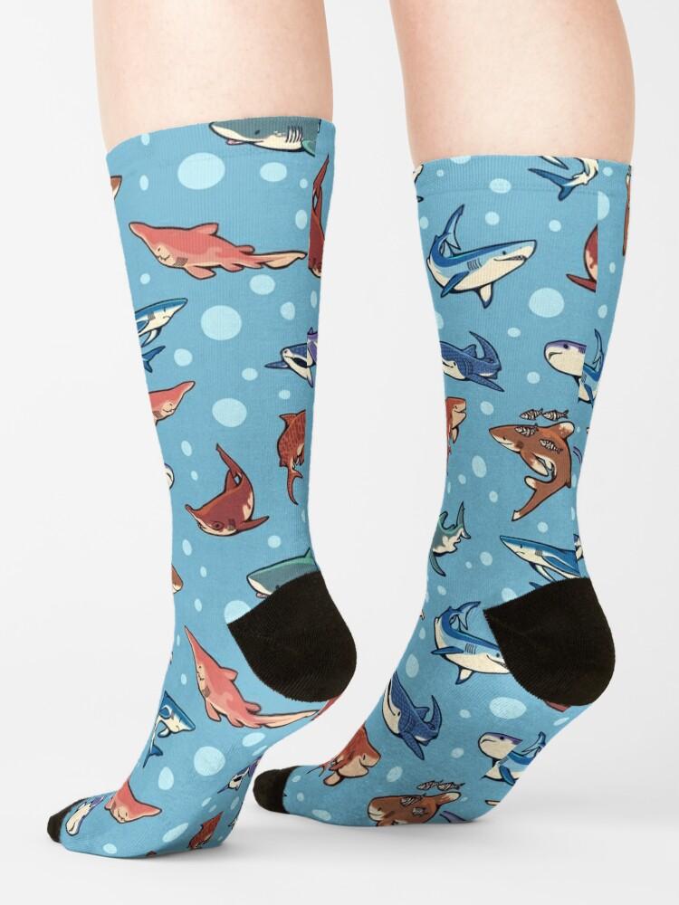 Alternate view of Sharks in the light blue Socks