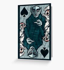Orlock, Vampire King of Spades Greeting Card