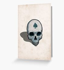 Vampire Skull, Ace of Spades Greeting Card