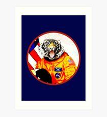 Astronaut Tiger Art Print
