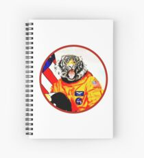 Astronaut Tiger Spiral Notebook