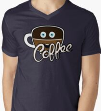 Cute Coffee Addict Mens V-Neck T-Shirt