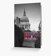 St Pauls and Bus Greeting Card