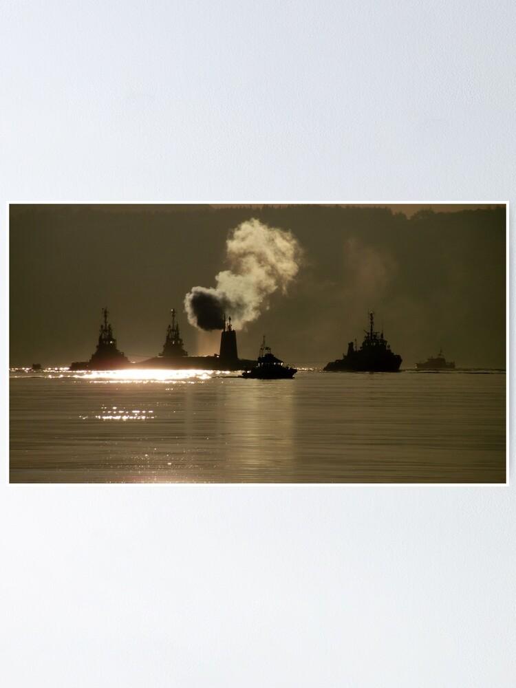 Alternate view of HMS Vanguard Poster