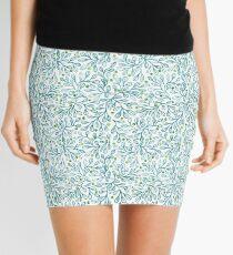 Blue Leaf Loveliness Mini Skirt