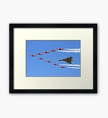 Final Vulcan flight with the Red Arrows 8 Framed Print