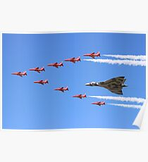 Final Vulcan flight with the Red Arrows 8 Poster