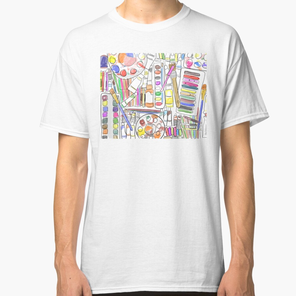 I'm Addicted.... To Art Supplies Color Version Classic T-Shirt