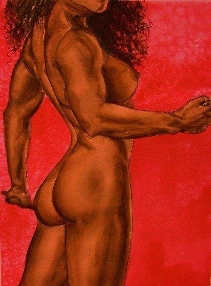 Interpretation of Boris Valleho nude. by Kathleen Livingston