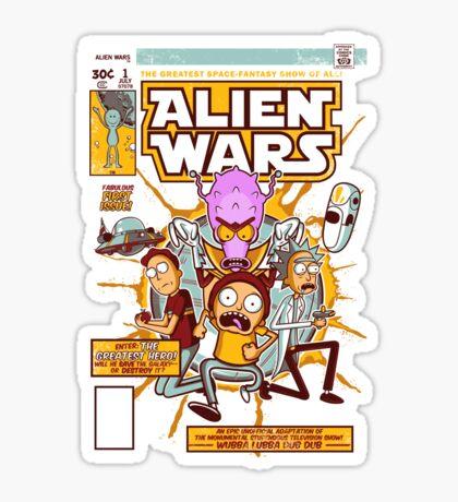 Alien Wars Sticker