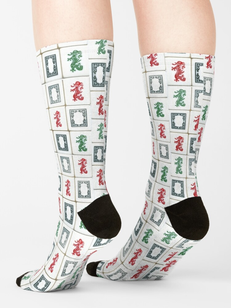 Alternate view of Traditional Dragons of Mah Jongg Socks