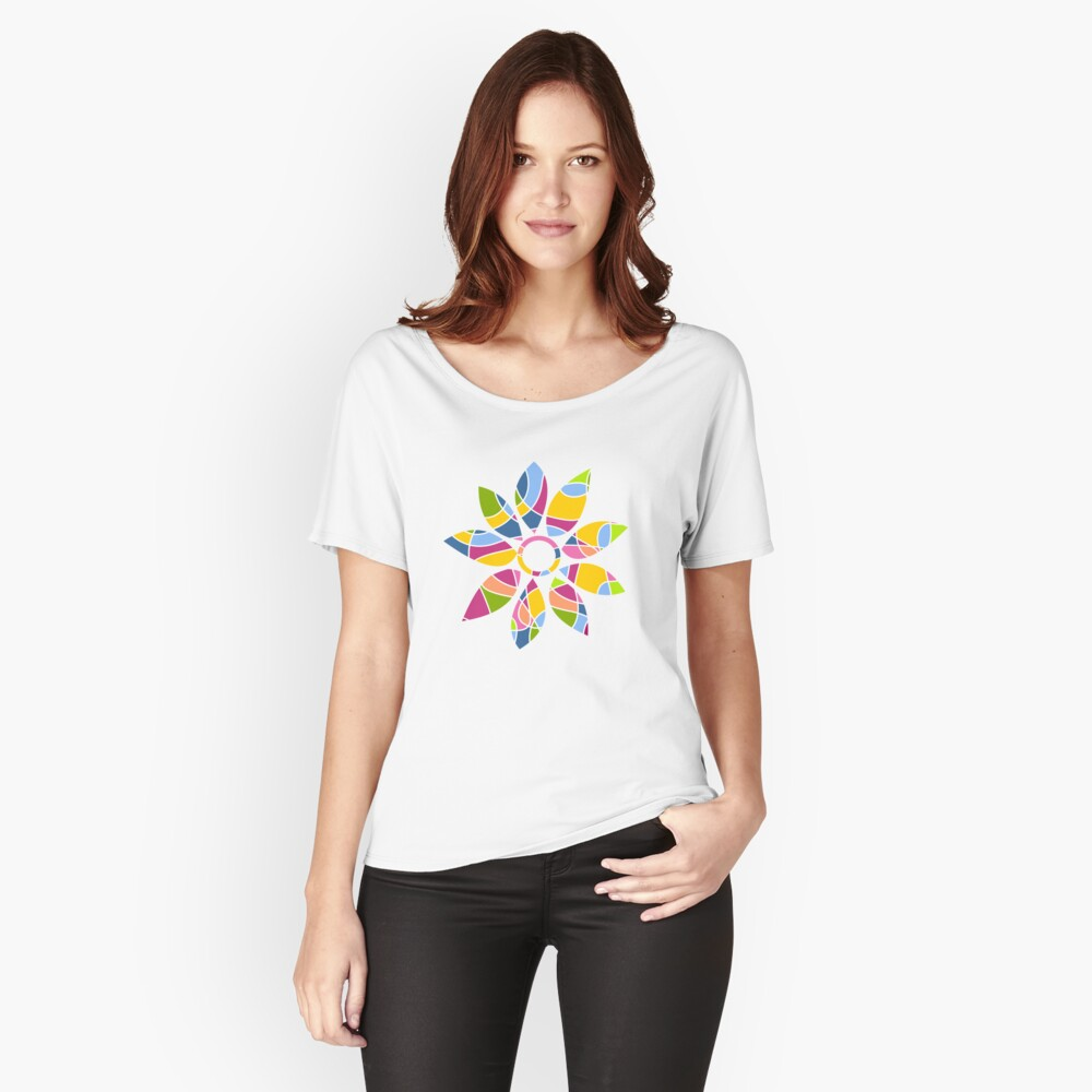 Ultra cool bold and bright scribble pattern Relaxed Fit T-Shirt