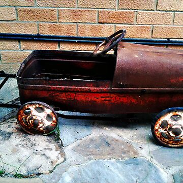 Rusty pedal car by MrMinty