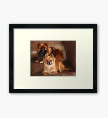 Astro and Karma Framed Print