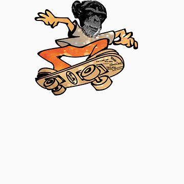 skater monkey man by ian rogers by tron2010