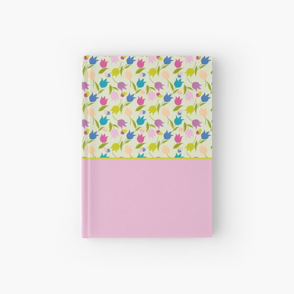 Decorative Tulips Pattern Hardcover Journal