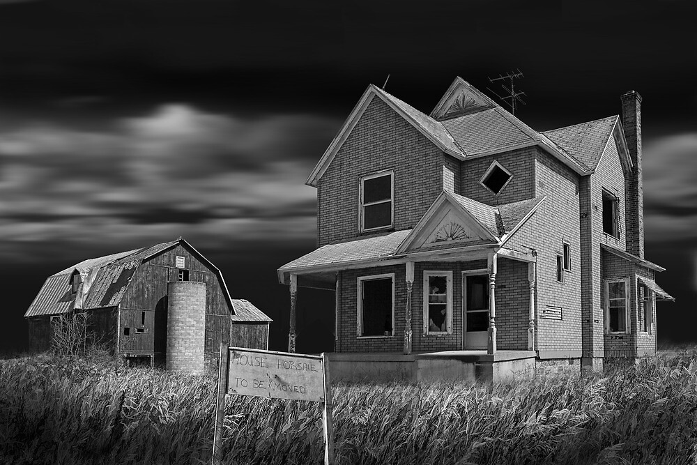 Decline of the Small Farm 6 BW by Randall Nyhof