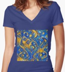 Deep Dream abstraction Fitted V-Neck T-Shirt